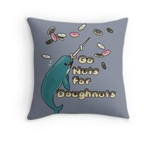 Go Nuts For Doughnuts Throw Pillow