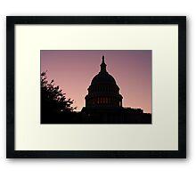 Capitol Light Framed Print