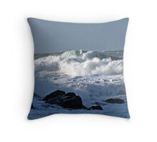 """ Rough Sea's at Chapel Porth"" Throw Pillow"