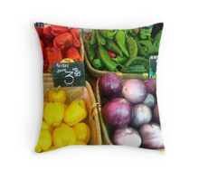 Vegetable Market Throw Pillow