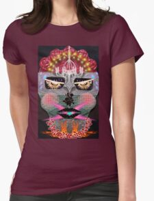 2015 Day of The Dead Mask Ceramic Slab Face Womens Fitted T-Shirt