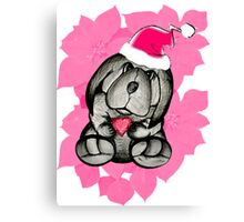 A puppy for Christmas please Santa Canvas Print