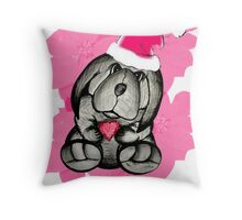 A puppy for Christmas please Santa Throw Pillow
