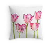 Fractalius Tulips Throw Pillow