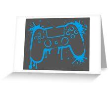 Playstation 4 Controller (Splatter) Greeting Card