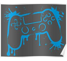 Playstation 4 Controller (Splatter) Poster