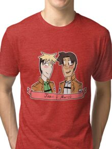 Jean and Marco Tri-blend T-Shirt