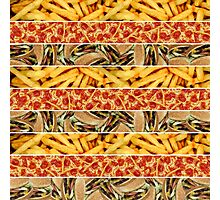 Fast Food Stripes Photographic Print