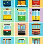 Streetcars of San Francisco by AtomicChild