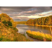 River Dee Looking East at Milton of Crathes Photographic Print