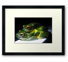 Froggy Love Framed Print