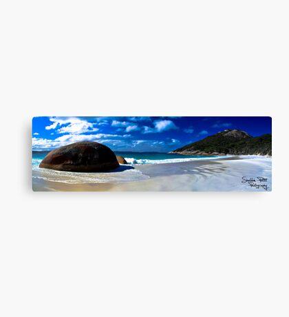 Little Beach Panorama Canvas Print