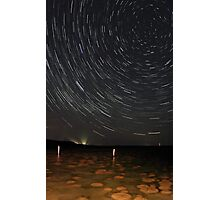 Star Trails Over Lake Clifton Thrombolites Photographic Print