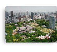 Aerial View of Zojo-Ji Temple  Canvas Print