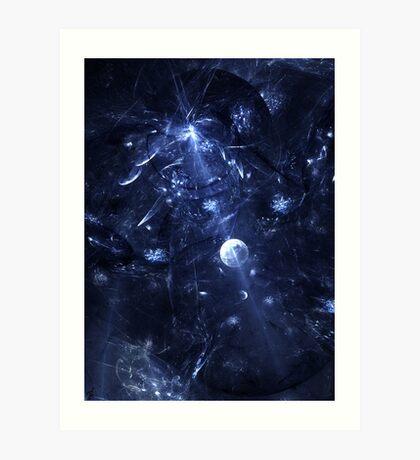 Crystalised Space Art Print