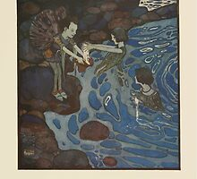 Fairies I Have Met - Rudolph Stawell - Art by Edmund Dulac - 1910 - 0057 - And Because the Silver of the Moonshine Faries is Very Light by wetdryvac