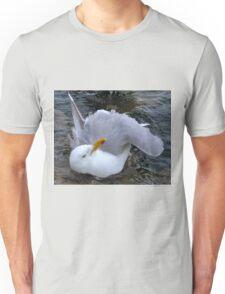 Squeaky Clean Gull at Lyme, Dorset UK Unisex T-Shirt