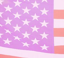 Pink US flag by stuwdamdorp