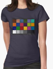 Color Checker Chart Womens Fitted T-Shirt