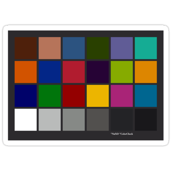 Color Checker Chart by Naf4d