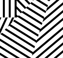 Modern Black and White Stripes Geometric Pattern by Blkstrawberry