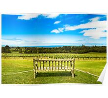 Red Hill Vineyard Poster