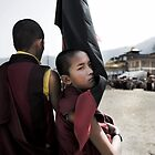 Tibetan Boy Monk by Kingston  Liu