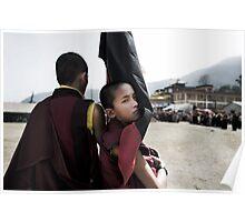 Tibetan Boy Monk Poster
