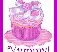 Pink Cupcake ~ Yummy! by Paula Parker