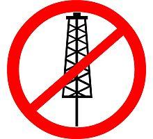 Anti-Fracking Symbol Photographic Print