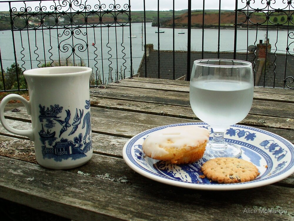 Tea Time over Kinsale Harbor by Alice McMahon