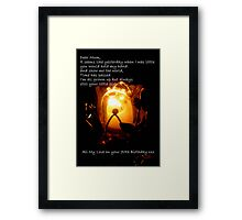 CandleGlow - Mother 70th Birthday Card Framed Print