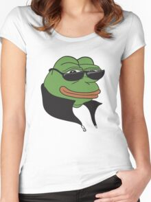 Cool Pepe t-shirt - Pepe the Frog Women's Fitted Scoop T-Shirt