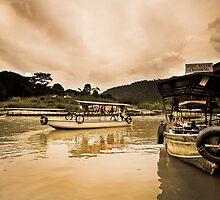 Malaysian Boats by Kingston  Liu