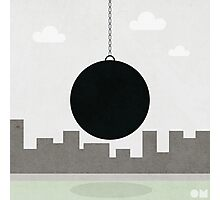 black wrecking ball Photographic Print
