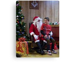 Alki Lodge Santa 2288 Canvas Print