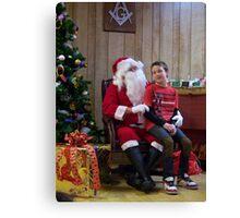 Alki Lodge Santa 2290 Canvas Print