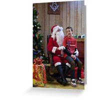 Alki Lodge Santa 2290 Greeting Card