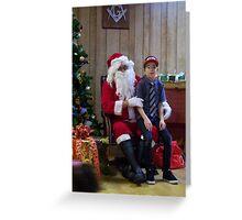 Alki Lodge Santa 2292 Greeting Card