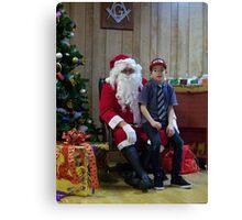 Alki Lodge Santa 2293 Canvas Print
