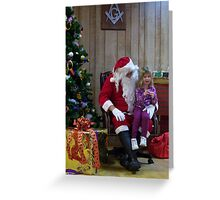 Alki Lodge Santa 2297 Greeting Card
