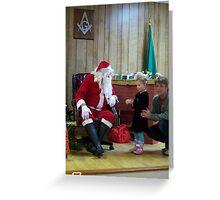 Alki Lodge Santa 2281 Greeting Card
