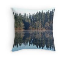 Mist on the water Throw Pillow