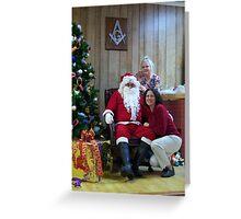 Alki Lodge Santa 2332 Greeting Card