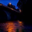 River Dee at night by Gabor Pozsgai