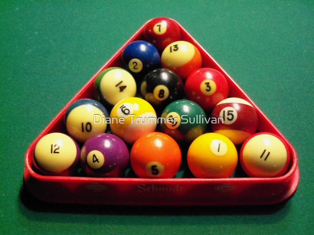 Pool Balls by Diane Trummer Sullivan