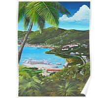 """ Charlotte Amalie Harbor "" St Thomas, USVI Poster"