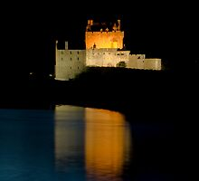 Castle Eilean Donan at night by Gabor Pozsgai