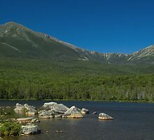 Mt. Katahdin from Sandy Stream Pond by Alana Ranney