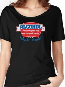Funny Alcohol Salad T-Shirt Comedy Tees Humor Vintage Women's Relaxed Fit T-Shirt